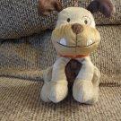 "Carters Just One Year Bulldog Puppy Dog Plush Orange Collar Lovey 7"""