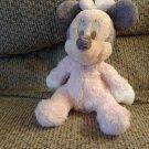 "Walt Disney Pink Pajama Bow Minnie Mouse Jingle Plush Lovey 9"""