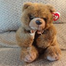 1998 WT Ty Magee Brown Furry Soft Amber Eyes Teddy Bear Plush Lovey 9""