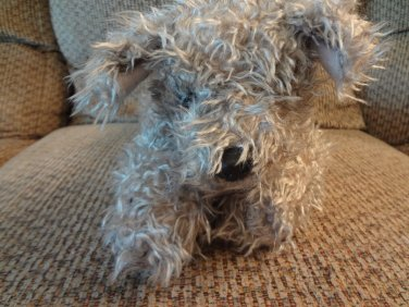 """WT 2000 Ty Classics Floppy Rags Curly Twisty Gray Fur Terrier Puppy Dog Lovey Plush 15"""""""