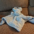 NWT Blankets And Beyond Lovey Pacifier Holder Puppy Dog Blue Sherpa Like Security Blanket