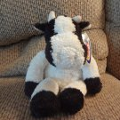 """NWT 2002 Mary Meyer Corp My Name Is Madison#45931 White Black Cow Lovey Plush 12"""""""