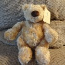 "WT Pottery Barn Kids Gund #41334 Clancy Tan Soft Furry Teddy Bear Plush Lovey 11"""
