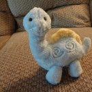 "Carters Baby Swirls #96150 Yellow Blue Lovey Rattles Dinosaur Plush 9"""