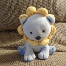 """Carters Child Of Mine Lovey Blue Yellow Tan #88236 Lion Rattles Plush 6"""""""