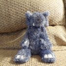 "Jellycat Bunglie Elephant #JCINC1186 Gray Blue Fur Black Button Eyes Velour Tusks Lovey Plush 10"""