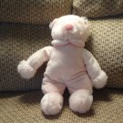#33574 Russ Berrie Rattle Pals Lovey Pink White Gingham Fleece Pajamas Teddy Bear Plush 12""