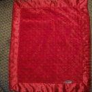 "Silky! By Cherish & Joy Red Lovey Minky Dot Satin Security Blanket 15x18"""