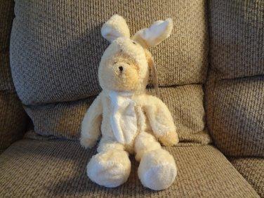 "WT Animal Alley #91990 Teddy Bear Yellow Bunny Costume Plush Soft Lovey 15"""