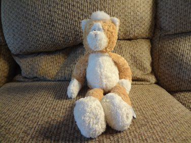 """2002 Boyds Collection Baby Terry Like White Tan Lovey Kitty Cat Plush 14"""""""