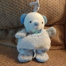 #96152 Baby By Carters Lovey Blue Green Play With Me Musical Teddy Bear Crib Pull Toy