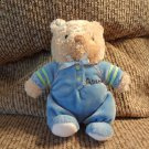 Carters Child Of Mine Lovey Blue Green Tan #88882 Allstar Teddy Bear Rattles Plush 8""