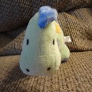 """Carters Just One Year Polka Dots #98748 Green Blue Lovey Rattles Dinosaur Plush 10"""""""