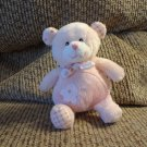 Baby Ganz Lovey Pink #EL0767 Baby Bear Heart Patches Teddy Bear Plush 6""