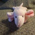 "Amy Coe Pink Dark Pink Black Threaded Eyes Floppy Beanbag Lovey Elephant Plush 10"""