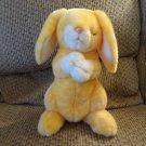 "WMT 2001 Beanie Buddy Lovey Orange Yellow Grace Praying Bunny Rabbit Plush 10"""