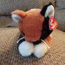 WMT 1998 Retired Ty Beanie Buddy Chip Brown Black Calico Lovey Kitty Cat Plush 17""