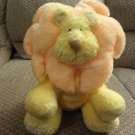 "Russ Berrie # 24731 Leon Yellow Orange Lovey Rattles Lion Plush 11"""