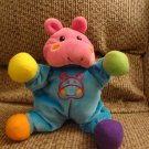Lamaze Learning Curve Rattles Pink Blue Yellow Green Orange Purple Hippo Lovey Plush 10""