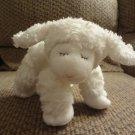 """Baby Gund #58133 White Rattles Winky Lamb White Collar Long Hair Wool Lovey Plush 10"""""""