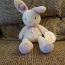 """NWT Carters Just One Year Rattles Pastel Hearts #98677 Lilac Cream Lovey Bunny Rabbit Plush 9"""""""