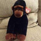 """WT 1999 Ty Beanie Buddy Congo Gorilla Ape Monkey Lovey Plush 11"""""""
