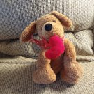 Mary Meyer Sweet Rascals Carmel Brown Lovey Heart Puppy Dog Plush 12""