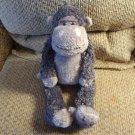 "Jellycat #JCINC101 Smokey Gray Pink Monkey Gorilla Lovey Plush 16"""