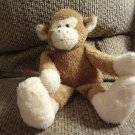 """2001 Boyds Collection Baby Terry Rattles Cream Tan Lovey Monkey Plush 13"""""""