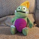 """VHTF MCS Augustine Deutsch Kruschel Das Zeitungsmonster Green Dinosaur Purple Spots German Plush 11"""""""