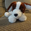 Mary Meyer Styrofoam Bead Floppy Brown White Bean Bag Puppy Dog Plush 17""