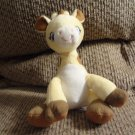 Garanimals Yellow Brown Stitched Giraffe Baby Plush Lovey 8""