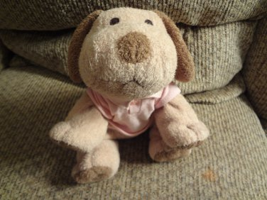 Tommy Hilfiger Pink Polo Tan Brown Lovey Puppy Dog Plush 10""