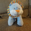 Baby Ganz Blue Calico Lion #BG2227 Rattles Jingles Striped Lovey Lion Plush 13""