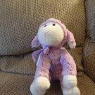 "Animal Adventure #2517 Purple Lavender Furry White Hooves Soft Lovey Lamb Plush 14"""