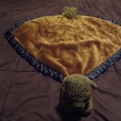 My Banky My Name Is Hunter Large Brown Wooly Fur Blue Satin Edge Bear Blanket 27x27""