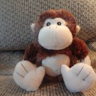 "Baby Aspen Brown Tan Rattles Soft Monkey Lovey Plush 10"""