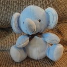 "Fisher Price Bean Bag Blue Elephant Lovey Plush 6"""
