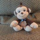 "Garanimals #82595 Brown Tan Monkey Blue Bow Lovey Plush 7"""