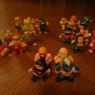 "Lot of 24 Vintage Soma 1986 1988 1.5"" Karate Ninja Wrestling Monsters PVC Figures"