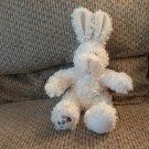 "Uni-Toys Germany I Love You Cream Furry Black Eyes Bunny Rabbit Lovey Pink Bow Plush 9"""