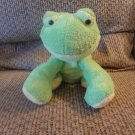 2006 Ty Pluffies Leapers Green Yellow Tylux Frog Lovey Plush 10""