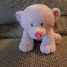 2012 Ty Pluffies Tylux Pink Amore Bear Cub Lovey Plush 11""