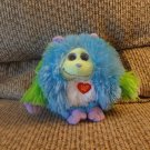 2012 Ty Monstaz Benny Blue Green Purple Horns Talking Monster Lovey Plush 5""