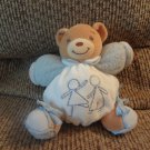 2006 Kaloo Boy Girl Playing Blue Terry Lovey Brown Teddy Bear Plush 6""