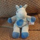 "Unipak Light Blue Spotted Rattle Lovey Horse Plush 8"""