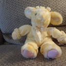 "Russ Berrie #3542 Kiddy Kuddlers Yellow Pajama Polka Dot Satin Bow Rattle Giraffe Lovey Plush 13"""