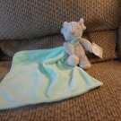 2014 NWT Carters Baby Cuddle Blanket Mint Green Lovey Gray Mouse Plush Security Blanket