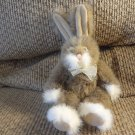 Russ Berrie #37071 Covington Brown White Tan Pink Nose Bunny Rabbit Plush 11""