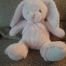 Blankets And Beyond #336-10 Pink White Brown Sewn Eyes Bunny Rabbit Plush 10""